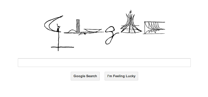 a1a48087a20d Today s Google homepage celebrates the 52nd anniversary of Brasília with  sketches of some of Oscar Niemeyer s iconic building designs in the capital.